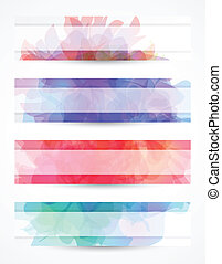 Delicate header or banner with transparent background