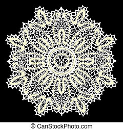Delicate lace doily pattern--model for design of gift packs...