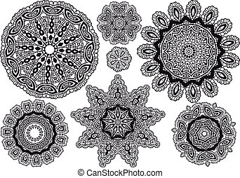 delicate lace pattern, vector background
