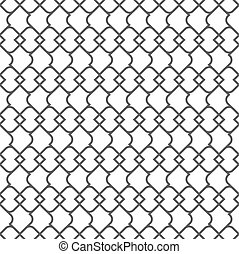 Delicate monochrome seamless pattern - variation 1. Vector...