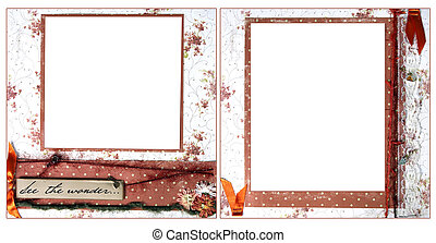 Delicate Orange Scrapbook Frame Template