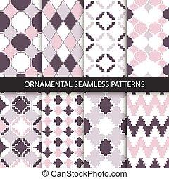 Delicate ornamental patterns - seamless.