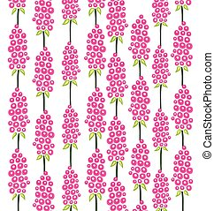 pattern of pink flowers