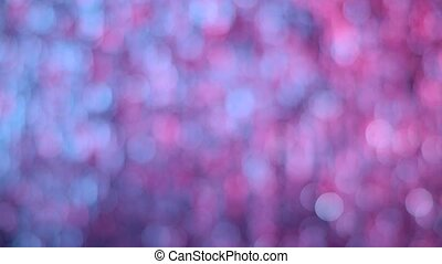 Delicate pink blue circle bokeh lights abstract background...