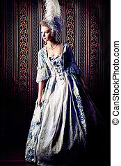 delicate - Portrait of the elegant woman in medieval era...