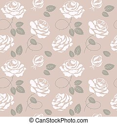 Delicate roses background seamless pattern