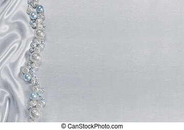 Delicate satin background with beads