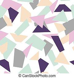 Delicate seamless mosaic pattern. Mosaic shapes.