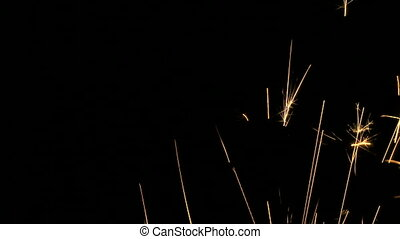 Delicate sparks - Sparks shooting across frame