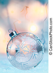 Delicate translucent Christmas bauble - Delicate translucent...