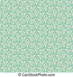 delicate vector background in soft colors with little shears and loops flourish seamless pattern