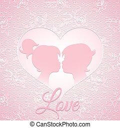 delicato, rosa, amore, scheda