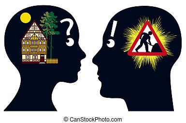 delicia, propietarios de casa, pesadilla, o