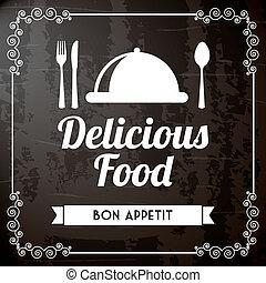 delicioso, alimento