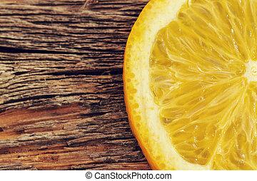 delicioso, naranja