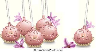 delicioso, sweets., verano, boda, confitería, panadería,...