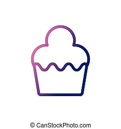 delicious and fresh cupcake, gradient style icon