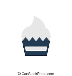 delicious and fresh cupcake on white background