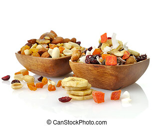 mixed dried fruit, nuts and seeds - Delicious and healthy...