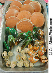 seafood on the market