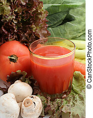 vegetable juice - delicious and healthy variety of...