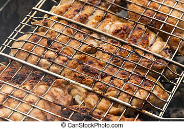 Delicious and juicy chicken background