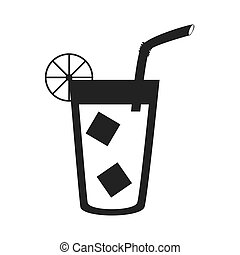 Delicious and refreshing lemonade, vector illustration.