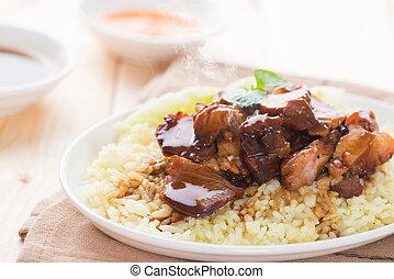Delicious Asian pork rice