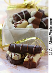 delicious assorti chocolate candy
