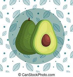 delicious avocado organic fruit nutrition