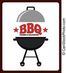 delicious barbecue design, vector illustration eps10 graphic