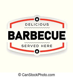 Delicious Barbecue vintage sign