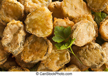 Delicious Battered Fried Pickles with Dipping Sauce