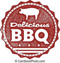 Delicious BBQ Menu Stamp