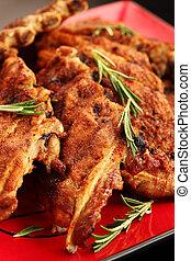 Delicious BBQ spare ribs