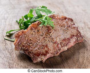 Delicious beef steak