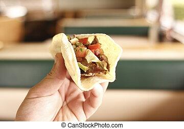 Delicious beef taco