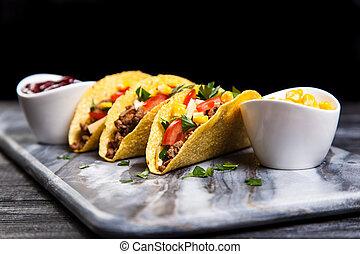 Delicious beef tacos
