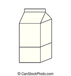 delicious box milk isolated icon