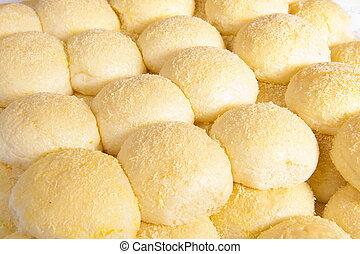 delicious famous brazilian delicia soft bread .