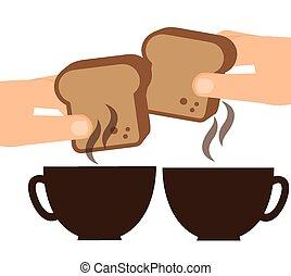 delicious breakfast design, vector illustration eps10 ...