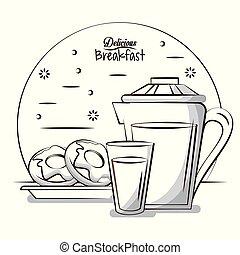 Delicious breakfast food