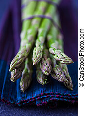 Delicious bunch of fresh green asparagus