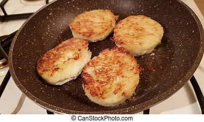 Delicious cabbage cutlets - Juicy appetizing cutlets from...