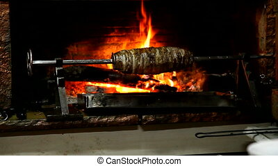 Delicious Cag Kebap - Traditional Turkish Food, shooting...