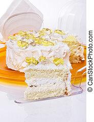 Delicious cake. Close-up.