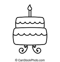 delicious cake isolated icon
