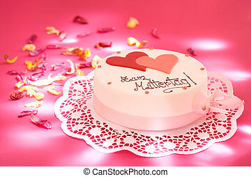 delicious cake - mother\\\'s day tarte with hearts and...