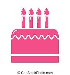 delicious cake silhouette icon
