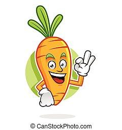 Delicious Carrot mascot, Carrot character, Carrot cartoon